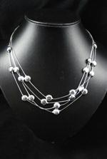 Silver Bead Style Necklace